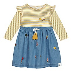 Mantaray - Girls' Mustard Embroidered Dress