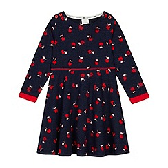 J by Jasper Conran - Girls' Navy Floral Jersey Dress