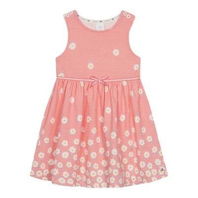 fb7f71da1f J by Jasper Conran Girls  Pale Pink Textured Floral Print Dress ...