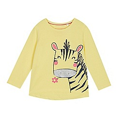 bluezoo - Girls' Yellow Zebra Print Top