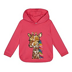 bluezoo - Girls' Pink Sequinned Giraffe Hoodie