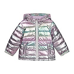 bluezoo - Girls' Silver Pearlised Coat
