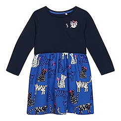 bluezoo - Girls' Blue Cat Print Dress