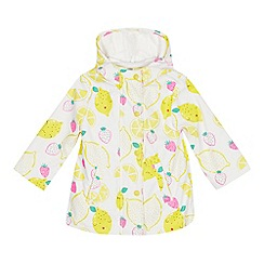 bluezoo - Girls' Yellow Lemon Print Coat