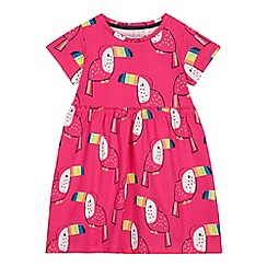 bluezoo - Girls' Pink Toucan Print Dress