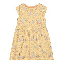 bluezoo - Girls' Yellow Dinosaur Print Dress