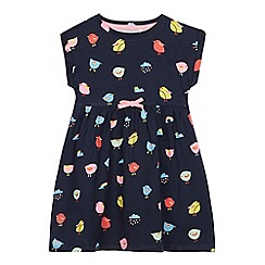 bluezoo - Girls' navy chick print dress
