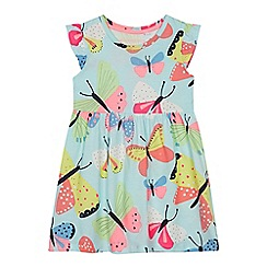 bluezoo - Girls' Aqua Butterfly Print Dress