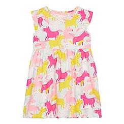 bluezoo - Girls' Aqua Unicorn Print Dress