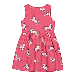 bluezoo - Girls' Pink Unicorn Print Dress