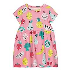 bluezoo - Girls' Light Pink Fruit Print Dress
