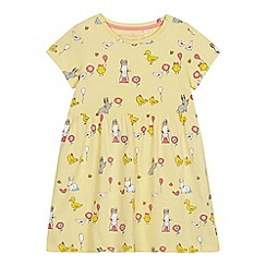 bluezoo - Girls' Yellow Easter Print Dress