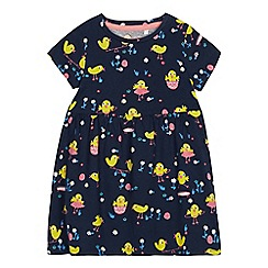 bluezoo - Girls' Navy Easter Print Dress