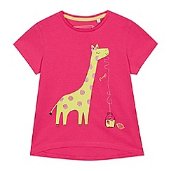 bluezoo - Girls' Pink Giraffe Print T-Shirt