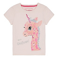 bluezoo - Girls' Light Pink Girafficorn Applique T-Shirt