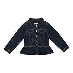 bluezoo - Girls' Blue Unicorn Applique Denim Jacket