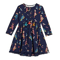 Mantaray - Girls' Navy Owl Print Dress