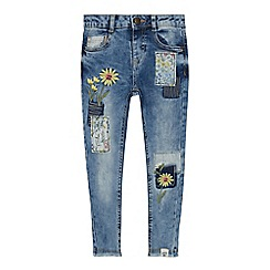 Mantaray - Girls' Light Blue Wash Daisy Jeans