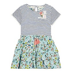 Mantaray - Girls' Green Rabbit Print Rara Dress