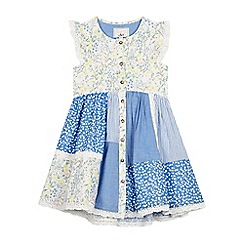 Mantaray - Girls' Multicoloured Floral Print Tiered Dress