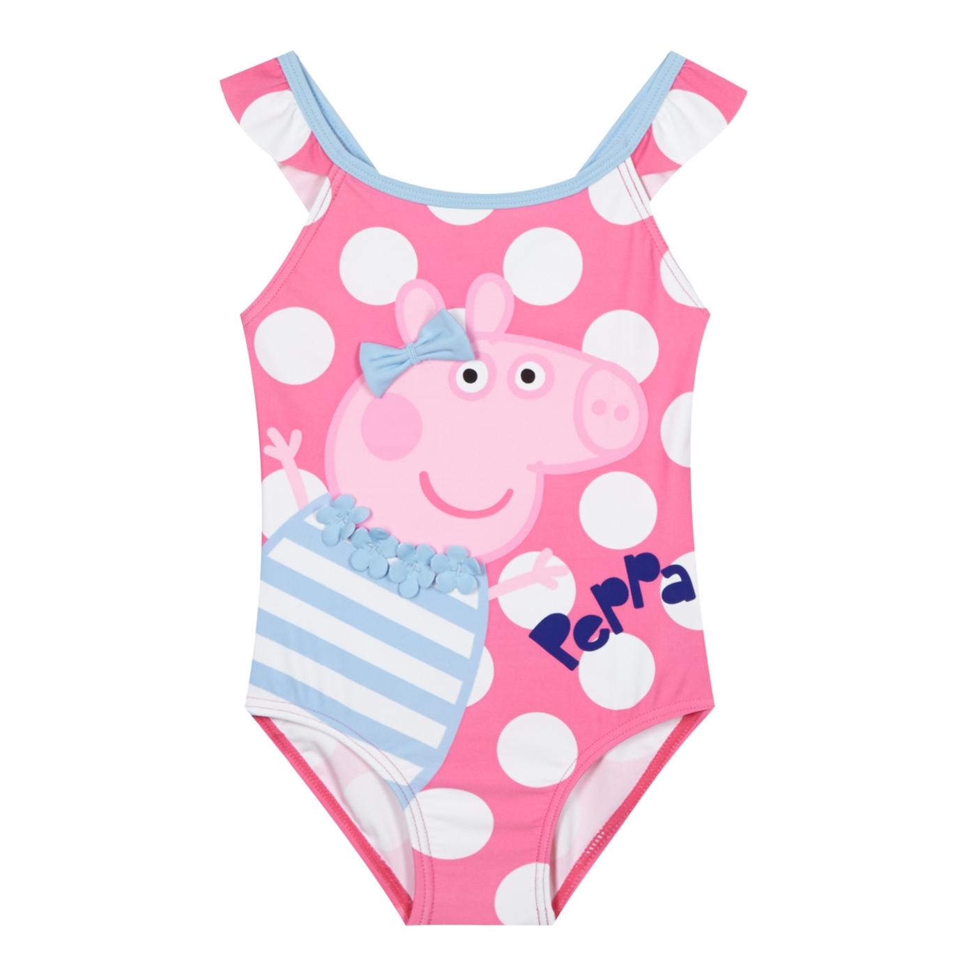Peppa Pig Girls pink Peppa Pig swimsuit