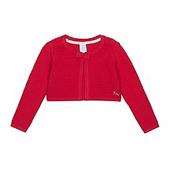J by Jasper Conran - Girls' Bright Pink Textured Cardigan