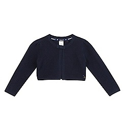 J by Jasper Conran - Girls' navy ribbed crop cardigan