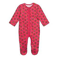 BBC Children In Need - Baby girls' pink Pudsey sleepsuit