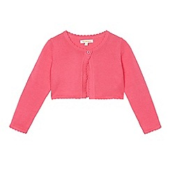 bluezoo - Girls' pink scalloped cardigan