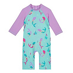 bluezoo - Girls' multi-coloured mermaid print sunsafe