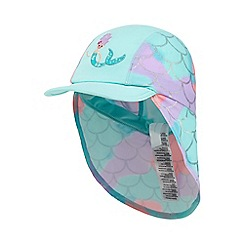bluezoo - Girls' aqua mermaid applique keppi hat