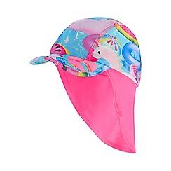 bluezoo - Girls' multi-coloured pool inflatables print keppi hat