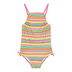 bluezoo - 'Girls' multi-coloured striped swimsuit