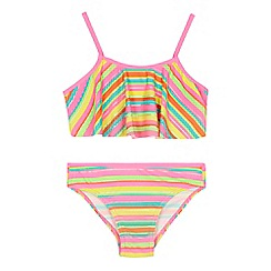 bluezoo - 'Girls' multi-coloured striped bikini