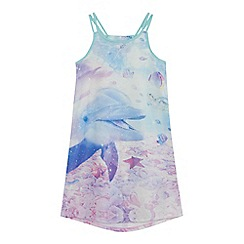bluezoo - Girls' blue dolphin print dress