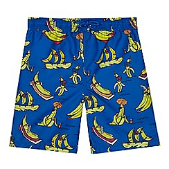 bluezoo - 'Boys' blue banana print swim shorts