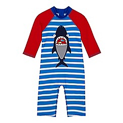 bluezoo - 'Boys' blue shark applique sun safe