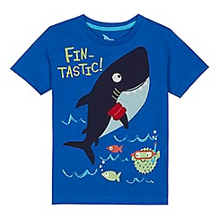 bluezoo - 'Boys' blue shark applique t-shirt