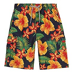 Mantaray - 'Boys' blue floral print swim shorts
