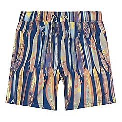 Mantaray - 'Boys' navy surfboard print swim shorts