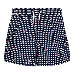J by Jasper Conran - Boys' blue gingham print swim shorts