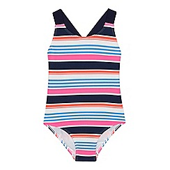 J by Jasper Conran - Girls' multicoloured striped swimsuit