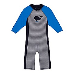 J by Jasper Conran - 'Boys' navy shark applique sunsafe