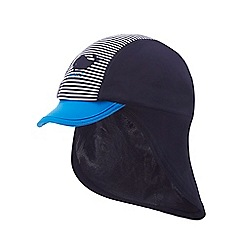 J by Jasper Conran - 'Boys' blue striped panel keppi hat