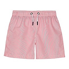 J by Jasper Conran - Boys' pink stripe print swim shorts