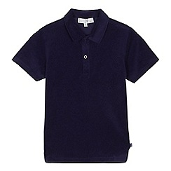J by Jasper Conran - Boys' navy towel polo shirt
