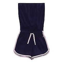 J by Jasper Conran - Girls' navy towel playsuit