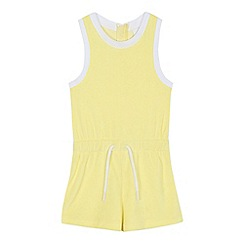 J by Jasper Conran - Girls' yellow towel playsuit