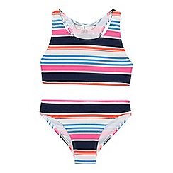 J by Jasper Conran - Girls' multicoloured striped tankini