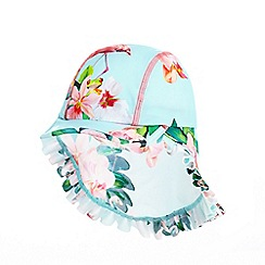 Baker by Ted Baker - Girls' aqua flamingo print kepi hat